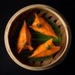 Hakkasan's celery prawn dumpling